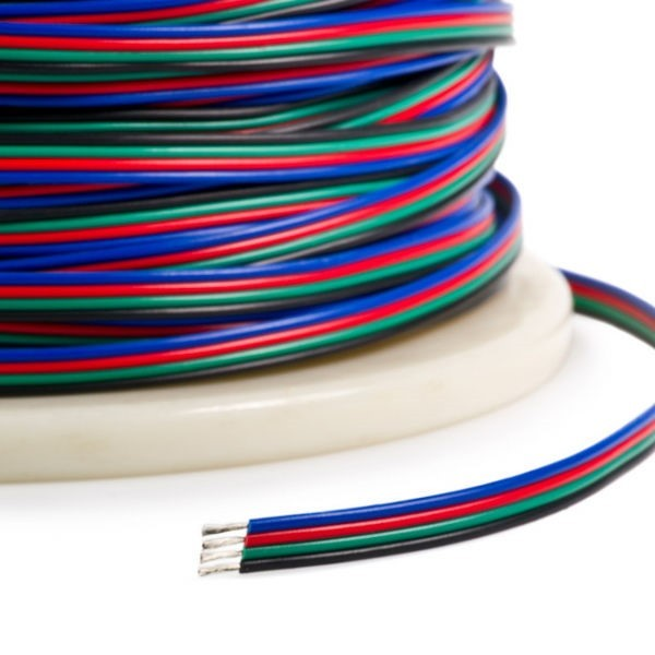 Kabel RGB 4 żyłowy do taśm led przewód 4x0,35