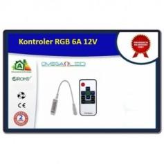 Kontroler RGB mini radiowy 6A 12 Volt
