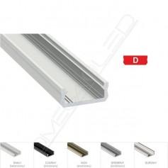 Profil led D nawierzchniowy 16 x 6,3mm