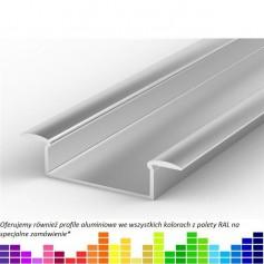 Profil led P14 wpuszczany szeroki 46 x 11 mm