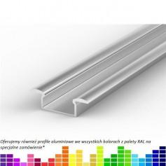 Profil led P6 wpuszczany 15 x 7,65 mm