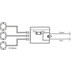 Włącznik uniwersalny IR 12-24V z trzema czujkami