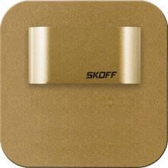 SKOFF Oprawa LED SALSA MINI STICK SHORT mosiądz mat przyklejana do ściany