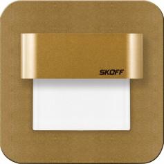 SKOFF Oprawa LED SALSA STICK mosiądz mat przyklejana do ściany