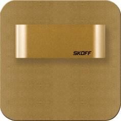 SKOFF Oprawa LED SALSA STICK SHORT mosiądz mat przyklejana do ściany